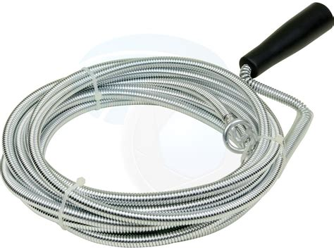 Snake Wire For Plumbing by Plastic Grip 5m 16feet Snake Pipe Rod Sink Drain