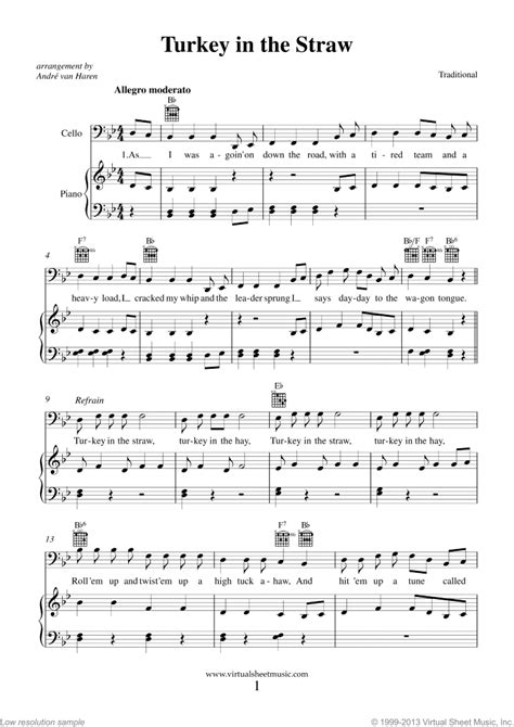 Thanksgiving Collection sheet music for cello and piano