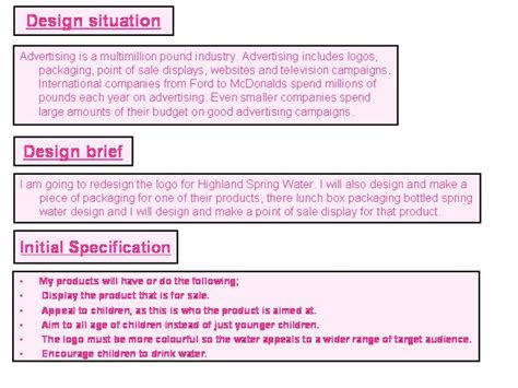 Design Brief In Product Design | product design design brief and design specification