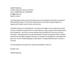 Thank You Letter To My Boss Sample 20 Thank You Letter To Boss Templates Free Sample