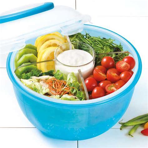 to go salad to go saladebak blauw 6 0 liter lock lock