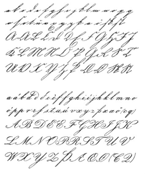 handwriting styles on handwriting styles