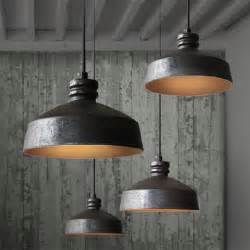 Rustic Pendant Lighting Tom Dixon Loft2 Rh Ceramic And Rusted Iron Inside Pendant Lighting Rustic Pendant Lighting