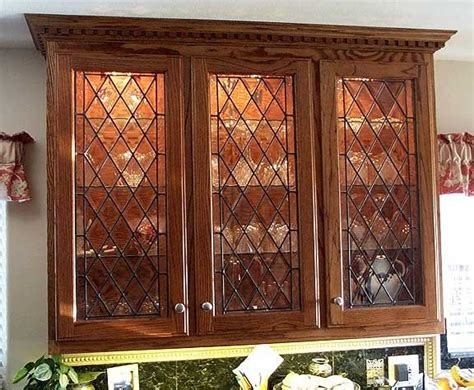 leaded glass kitchen cabinets kitchen cabinets stained glass ideas pinterest