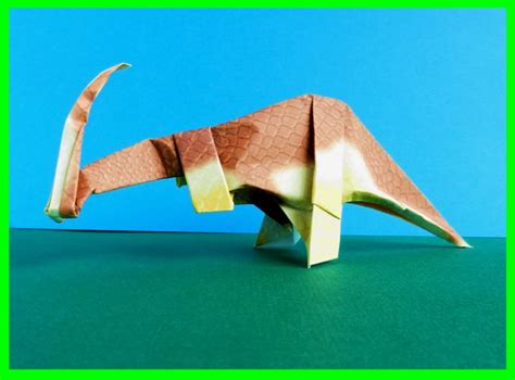 Origami Parasaurolophus - joost langeveld origami page
