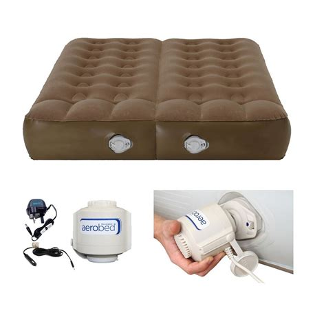 aerobed active plus dual chamber airbed with 230 volt rrp 163 129 99 ebay