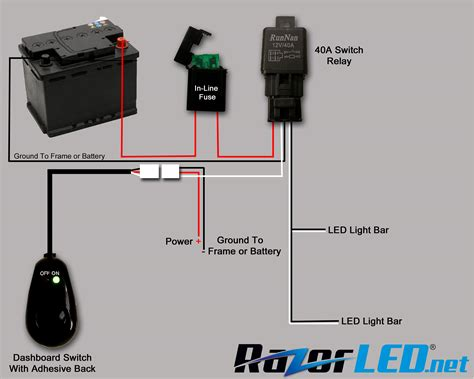 led light wiring diagram with relay wiring diagram with