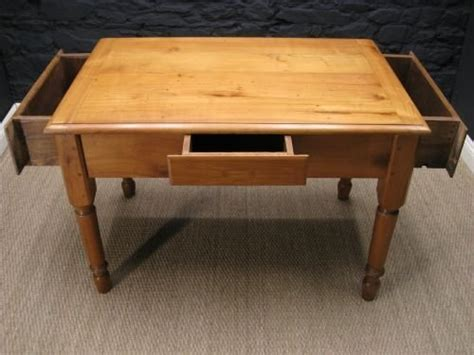 antique late 1800 s solid cherry farmhouse kitchen table