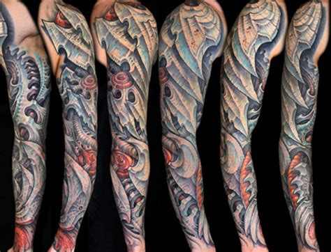 biomechanical tattoo in colour bioorganic tattoos tattoo com