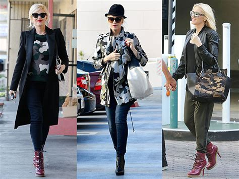 Valentino Rockstar Army 1 trend 3 ways gwen stefani s chic camo prints