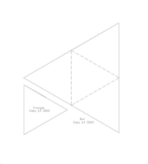 triangle packaging template triangle box template 10 free pdf format