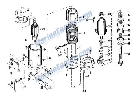 starter motor parts diagram evinrude starter motor delco remy no 1113521 parts for