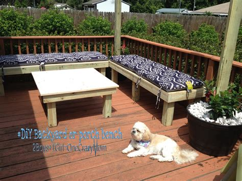 Sears Outdoor Furniture Cushions - create a simple diy backyard seating area in a weekend project 2 boys 1 one crazy mom