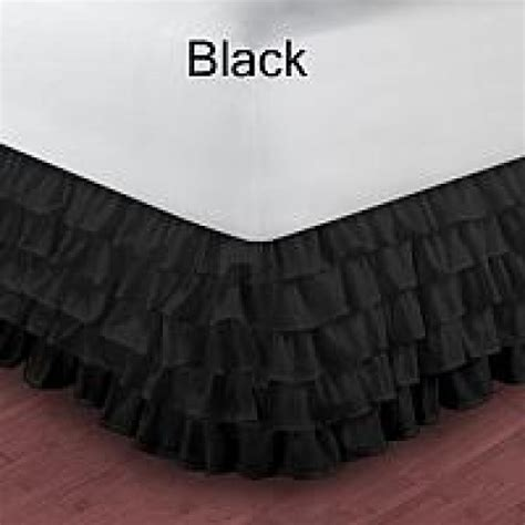 black bed skirt multiple waterfall black ruffle bed skirt 1000 tc egyptian