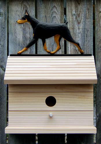 doberman dog house doberman pinscher dog bird house