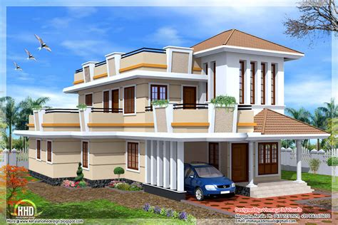 2326 Sq Feet 4 Bedroom Double Storey House Kerala Home Design And Floor Plans
