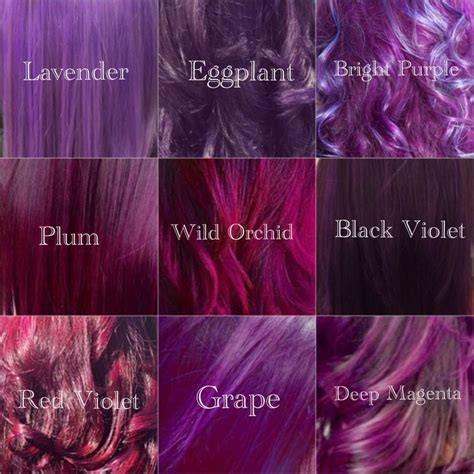 purple color shades best 25 magenta hair ideas on plum purple