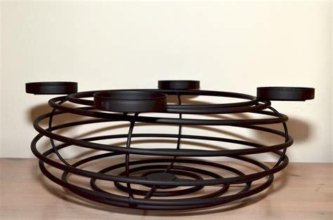 Adventskranz Aus Metall Dekorieren by Adventskranz 248 40 Cm Aus Metall F 252 R 4 Kerzen Kerzenst 228 Nder