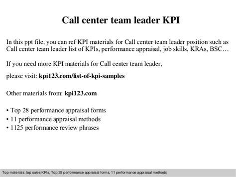 cover letter call centre team leader call center team leader kpi