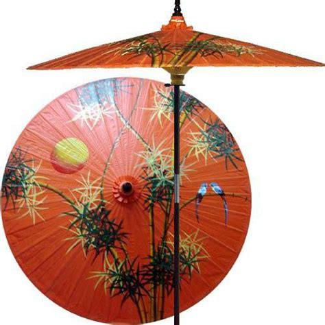asian patio umbrella bamboo forest outdoor patio umbrella fruit orange asian outdoor umbrellas by