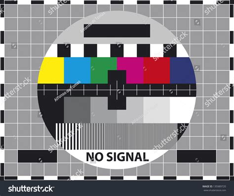 3x4m Greyscreen Broadcast Tv Quality television test screen used prove quality stock vector 135989720