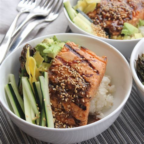 Todays Special Sake Salmon And Rice by Grilled Salmon Sushi Rice Bowl Emerils