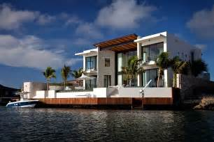 Waterfront Home Designs by Modern Waterfront Home Bonaire The Netherlands Antilles