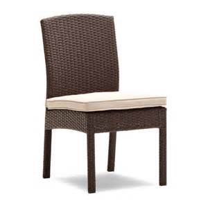 Wicker Patio Dining Chairs Strathwood Griffen All Weather Wicker Dining Armless Chair Brown Set Of 2