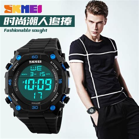 Jam Tangan Skmei S Shock Sport Dg1027 Black skmei jam tangan digital pria dg1130 black white