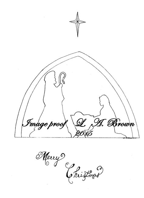 nativity silhouette coloring page printable coloring page christmas nativity silhouette