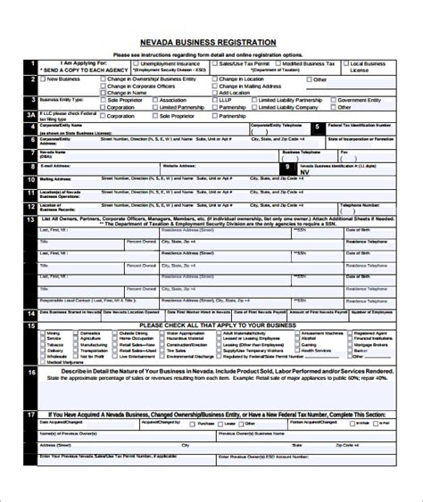 section 8 applicant sle business application form 7 free dcouments