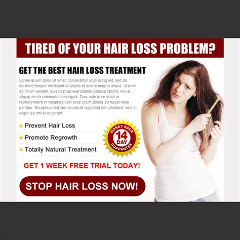 13 Best Products To Treat Hair Loss by Stop Hair Loss Ppv Landing Page Design Templates To Boost