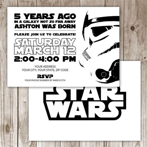 17 best ideas about star wars invitations on pinterest