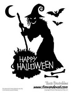 Halloween Arts And Crafts Decorations - free printable witch silhouette for halloween