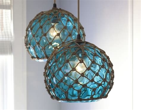 Coastal Ls Inspired By Fishing Glass Floats Glass Float String Lights
