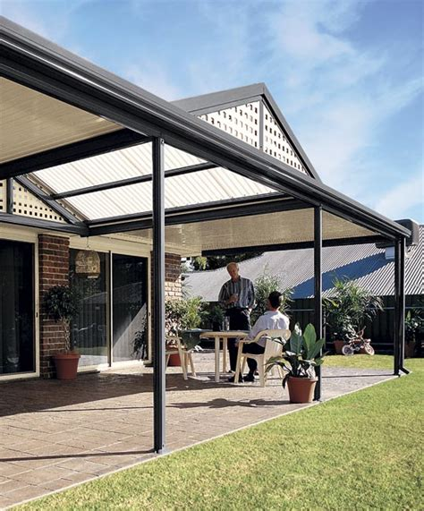 outback awnings stratco outback gable awnings carports pergolas