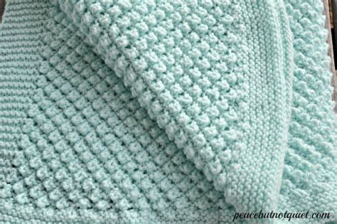 Free Baby Blanket Knitting Pattern by Easy Knitting Patterns Popcorn Baby Blanket Peace But