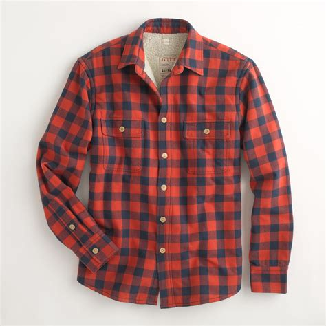 Levis Flannel Navy By Daino Store j crew factory sherpa lined flannel jacket in for