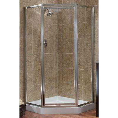 Bathroom Shower Doors Home Depot Foremost Tides 18 1 2 In X 24 In X 18 1 2 In X 70 In Framed Neo Angle Shower Door In Silver