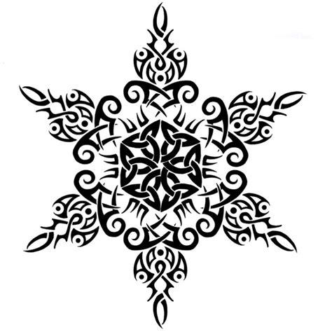 tribalceltic snowflake tattoo2 by annikki on deviantart