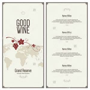 Wine Menu Templates by 20 Wine Menu Templates Free Sle Exle Format