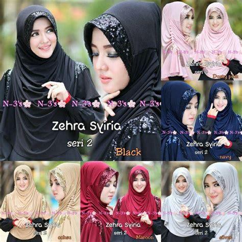 Syari Jersey Maroko Pet Belah Kanan Kiri jilbab syar i zehra model jilbab terbaru 2017 bundaku net