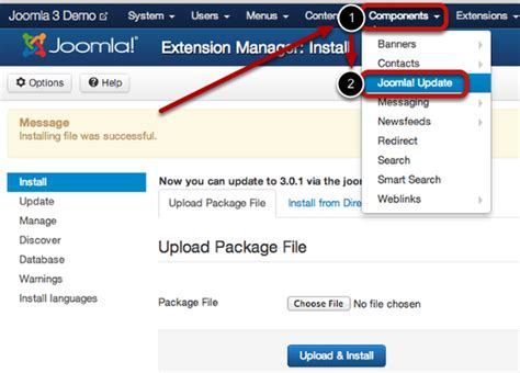 manual joomla upgrade how to update from joomla 3 0 to 3 0 1 joomla documentation