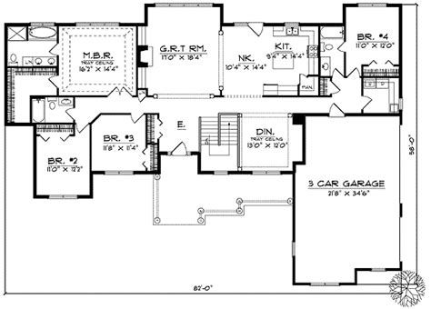 ranch farmhouse floor plans ranch style farmhouse plan 89119ah architectural designs house plans