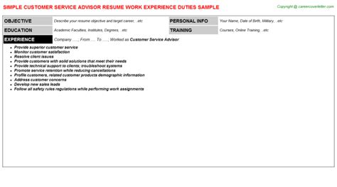 Bmw Service Advisor Cover Letter by Customer Service Advisor Resume Sles Career Advisor Resume Bmw Service Advisor Resume S