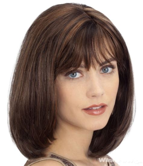 hairstyles with bangs on round faces 14 finest medium length hairstyles for round faces