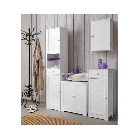 meuble colonne salle de bain blanc cottage
