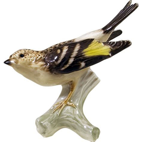 bird figures vintage goebel west germany bird figurine brambling from