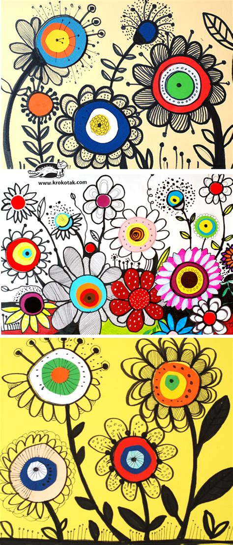 doodle flowers how to krokotak how to draw flowers