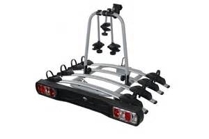 tow bar mounted 4 bike rack cycle carrier with lights and